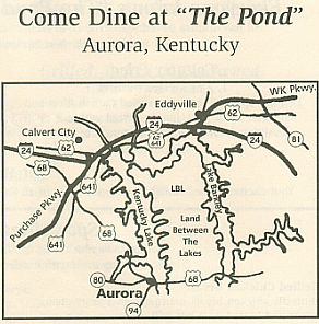 Willow Pond Map - Aurora, Kentucky