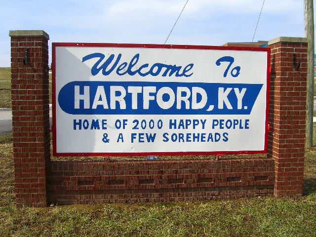 Welcome to Hartford, Kentucky Sign