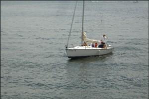 Sailboat on Kentucky Lake at Lighthouse Landing