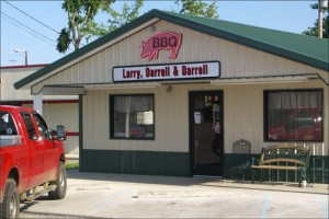 Larry, Darrel & Darrel's BBQ in Mayfield Kentucky