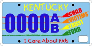 Kentucky's I Care About Kids License Plate