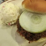 Old Hickory Chopped Pork Sandwich and Potato Salad