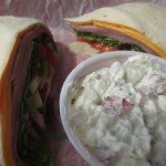 Docker's Bayside Grill Wrap and Potato Salad