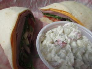 Docker's Bayside Grill Wrap and Potato Salad