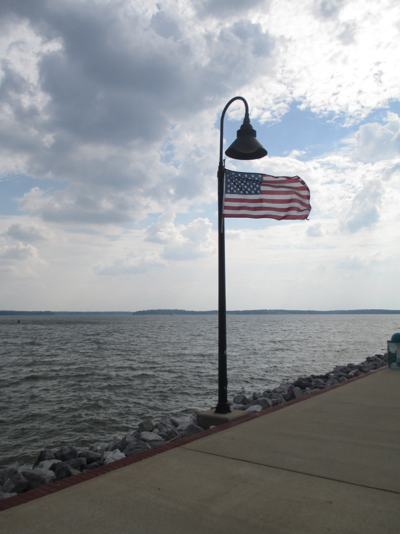 Flag on theGrand Rivers Jetty