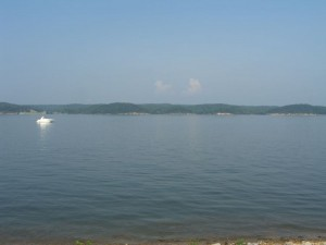 Kentucky Lake view from Kenlake State Resort Park.