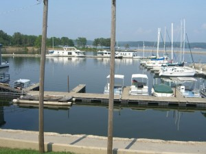 Kenlake State Resort Park Marina on Kentucky Lake.