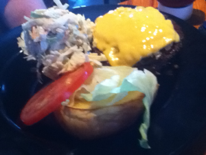 Double Dogs Betty Burger and Coleslaw