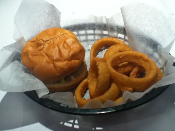Bee Bops Hamburger and Onion Rings