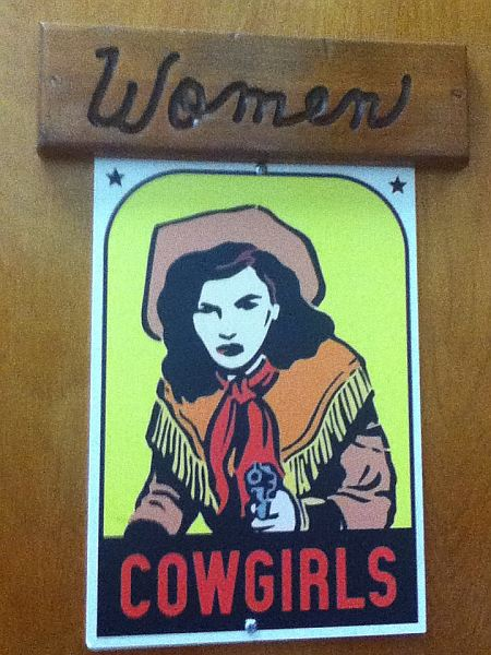 Dickeys Barbecue Pit in Columbia Kentucky Ladies' Bathroom Door