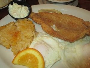 Fried Catfish for Breakfast at Cracker Barrel (Owensboro)