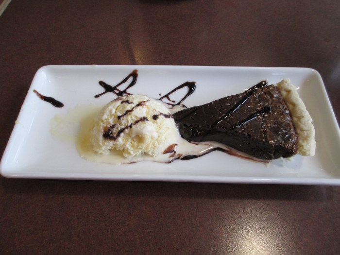 Chocolate Fudge Pie and Ice Cream at Kentucky Dam Village State Resort Park's Harbor Lights