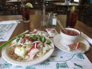 Soup and Salad at Pennyrile Forest State Park's Clifty Falls Restaurant
