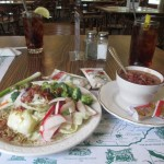 Soup, Salad, and Tea at the Lodge's restaurant, Clifty Falls