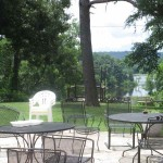 Patio behind Pennyrile Forest State Resort Park's Lodge