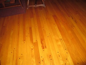 Wood Floor in the Pennyrile Forest State Resort Park Lodge
