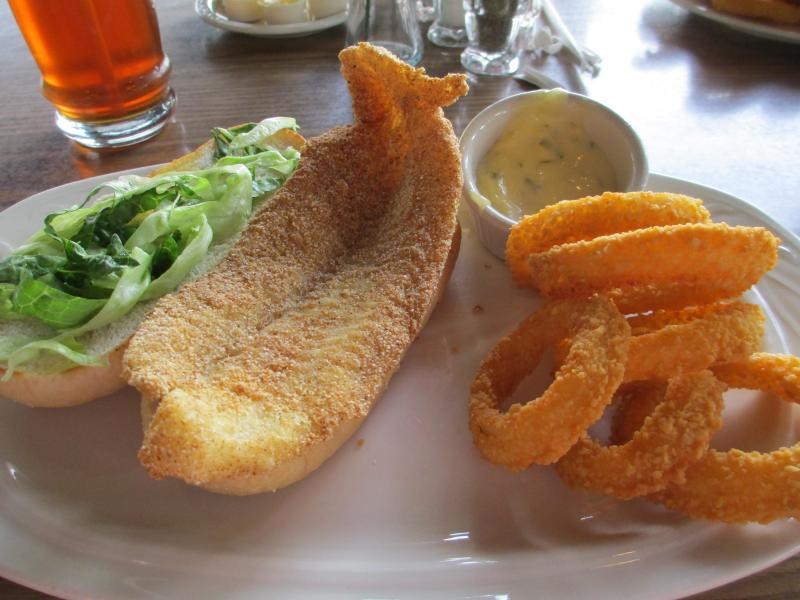 Catfish Sandwich at Lake Barkley