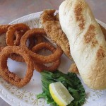 Catfish Sandwich and Onion Rings, Grayson's Landing at Rough River Dam State Resort Park
