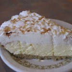 Coconut Cream Pie at Grayson's Landing Restaurant
