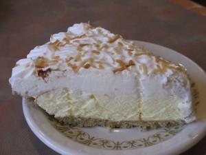 Coconut Cream Pie at Grayson's Landing Restaurant