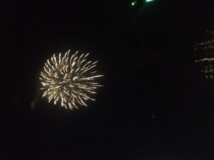 Fireworks at Panther Creek Park in Owensboro, Kentucky