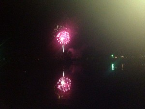 Fireworks at Panther Creek Park in Owensboro