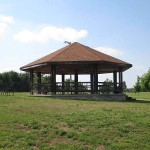 Gazebo in front of Rough River Dam State Resort Park's Lodge