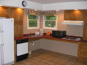 Kitchen in a Cottage at Rough River Dam State Resort Park