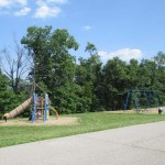 Rough River Dam playground beside cottages