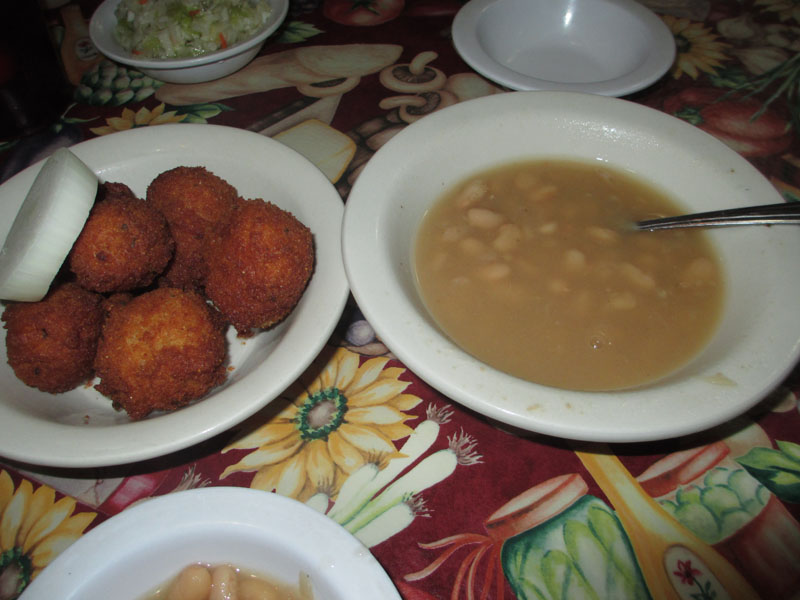 Willow Pond in Aurora Hush Puppies and Beans