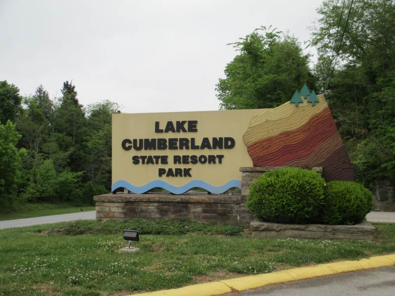Lake Cumberland State Resort Park Sign