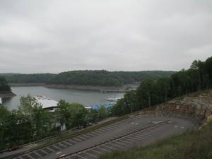 View of Lake Cumberland and Jamestown Marina