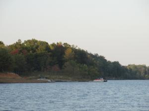 Boat on Rough River Lake