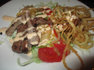 Tumbleweed's Sizzling Fajita Salad with Grilled Sirlioin