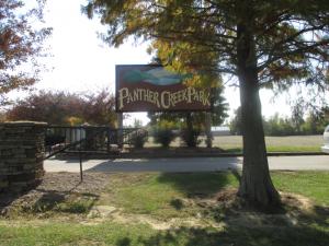 Panther Creek Park Sign