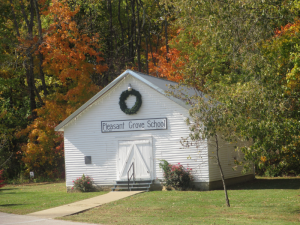 Old Pleasant Grove Schoolhouse at Panther Creek Park