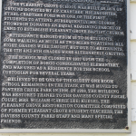 Pleasant Grove School Plaque