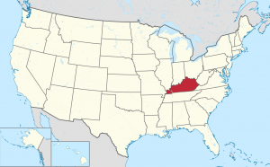 Map Showing Where Kentucky is Located