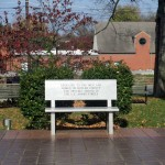 Memorial Bench in Morgantown, Kentucky