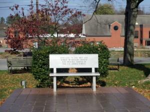 Memorial Bench in Morgantown, Kentucky