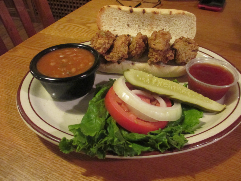 Oyster Po Boy, The Feed Mill in Morganfield, Kentucky