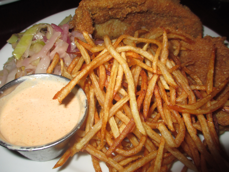 The Miller House Fried Catfish, Colelaw and Fries