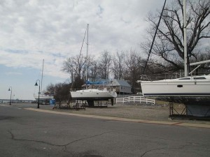 Boats at Lighthouse Landing in Grand Rivers, Kentucky