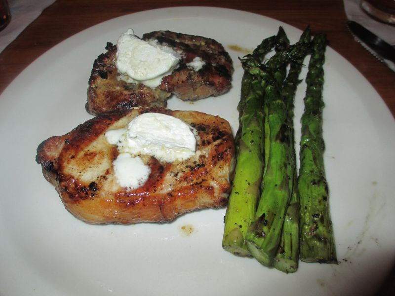 Rafferty's Pork Chop and Grilled Asparagus