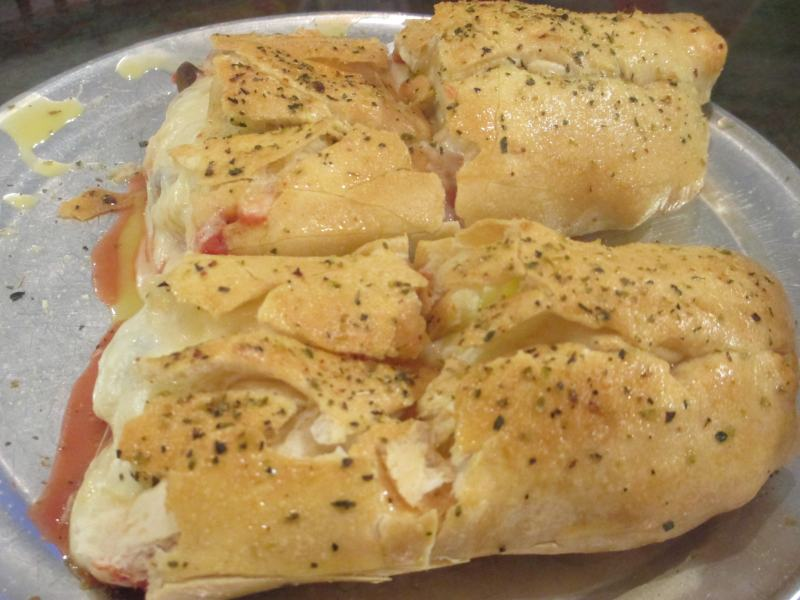 Veggie Stromboli from Rockhouse Pizza