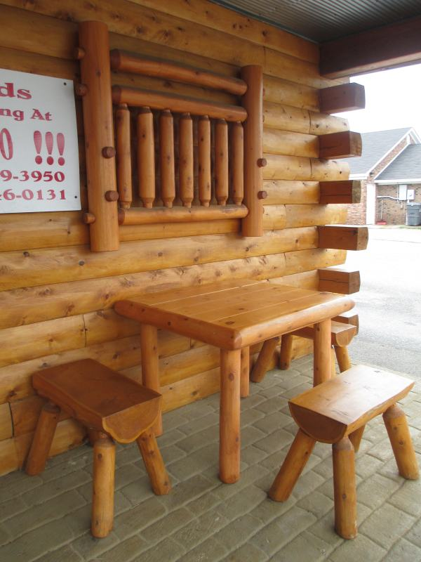 Giant Wooden Furniture at Laura's Hilltop Restaurant