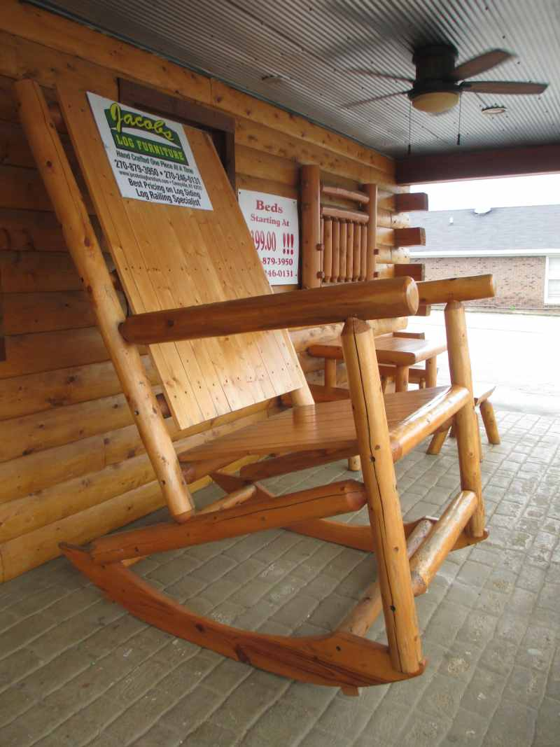Giant Rocking Chair at Laura's Hilltop Restaurant in Brownsville, Kentucky
