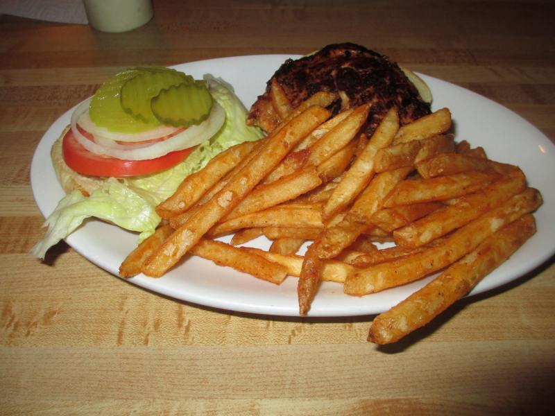 Laura's Hilltop Restaurant Mesquite Grilled Chicken Sandwich and Spicy Fries