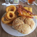Hamburger and Onion Rings at Lake Barkley State Resort Park