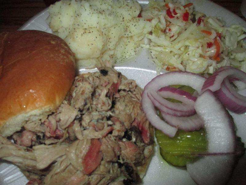 Jack's Pulled Pork Sandwich and Sides
